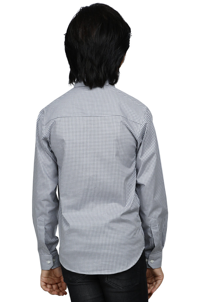 Boys Casual Shirt In Grey SKU: KBB-0257