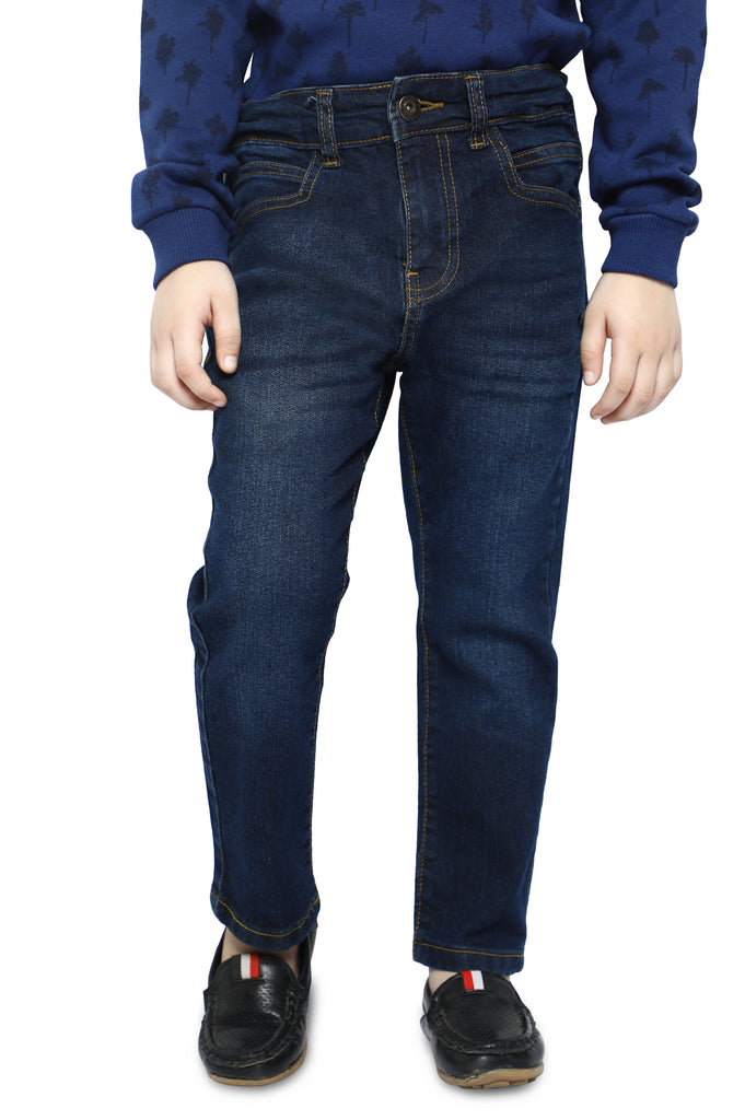 Trouser For Kids In D-Blue SKU: KBC-0347-D-BLUE - Diners