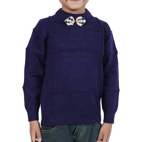 Boys Sweaters In Navy SKU: KBE0093-NAVY