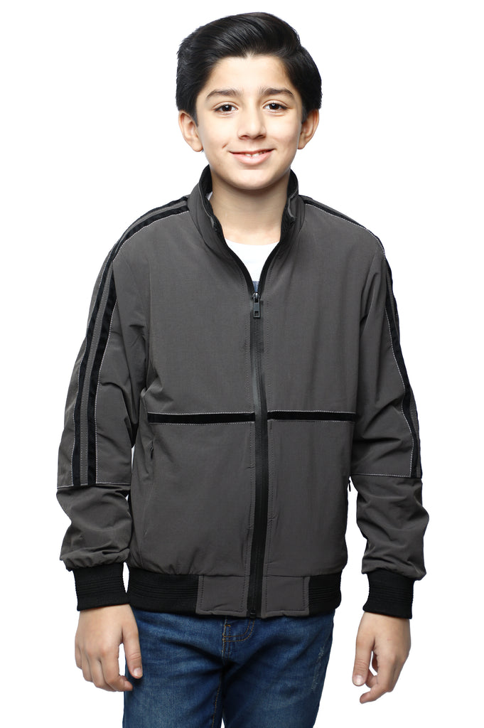 Boys Jacket In Grey SKU: KBF-0052-GREY - Diners