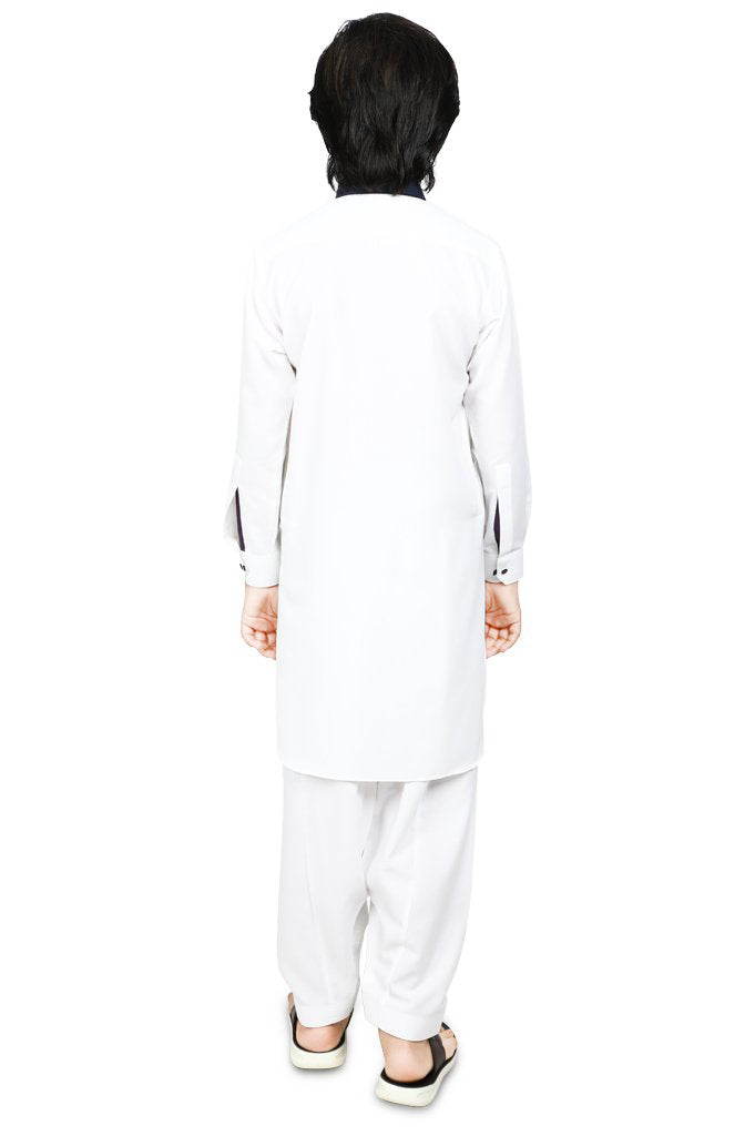 Boys Kurta In White SKU: KBH-0056