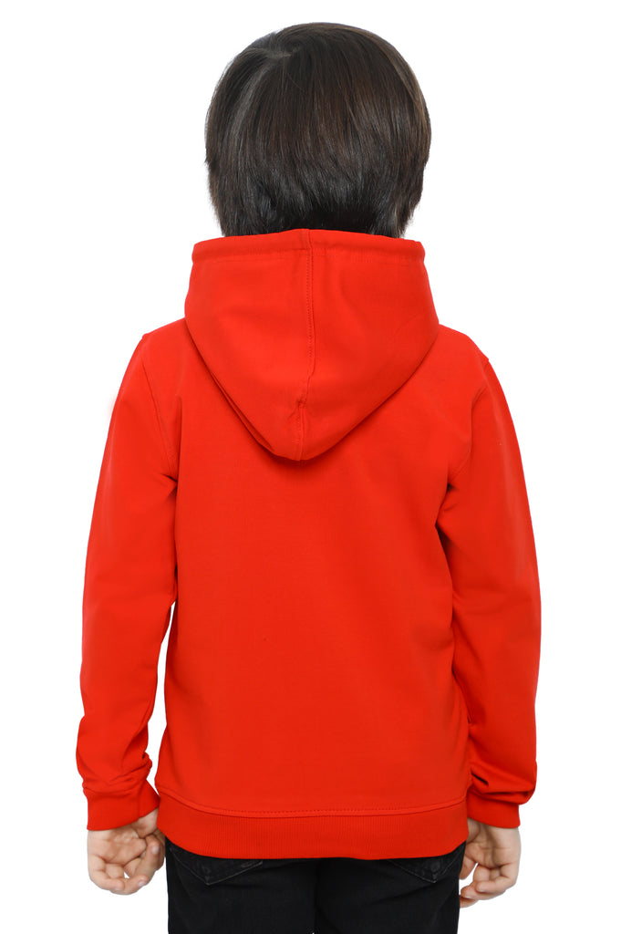 Boys Hoodie In Red SKU: KBI-0019-RED - Diners