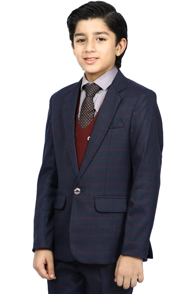 Boys Suiting In D-Blue SKU: KBS-0033-D-Blue