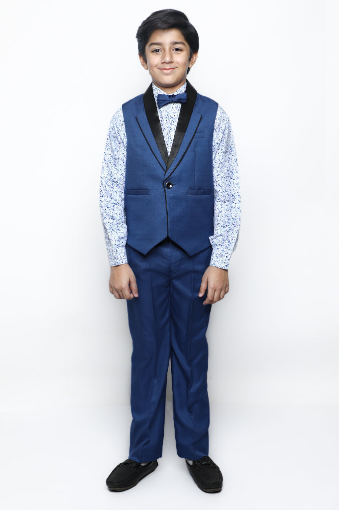 Boys Suit In D-Blue SKU: KBS-0038-D-BLUE - Diners