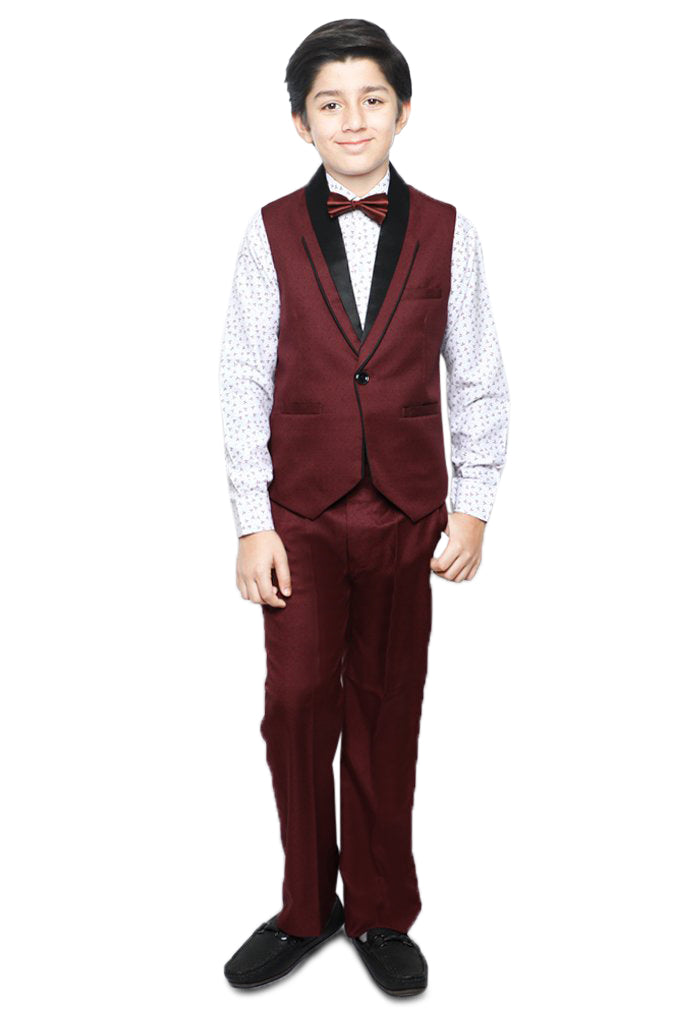Boys Suit In Red SKU: KBS-0038-RED - Diners