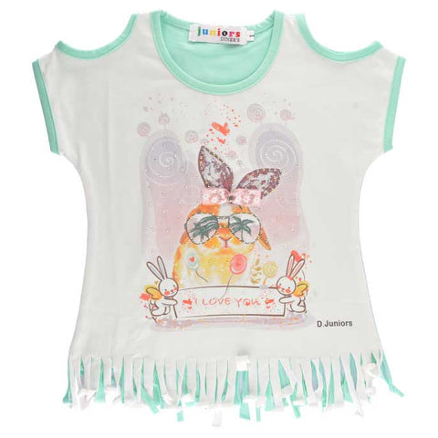 T-Shirt For Girls In Green SKU: KGA-0122-GREEN