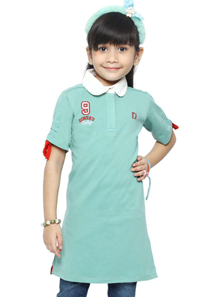 Girls T-Shirt In Green SKU: KGA-0145-GREEN - Diners