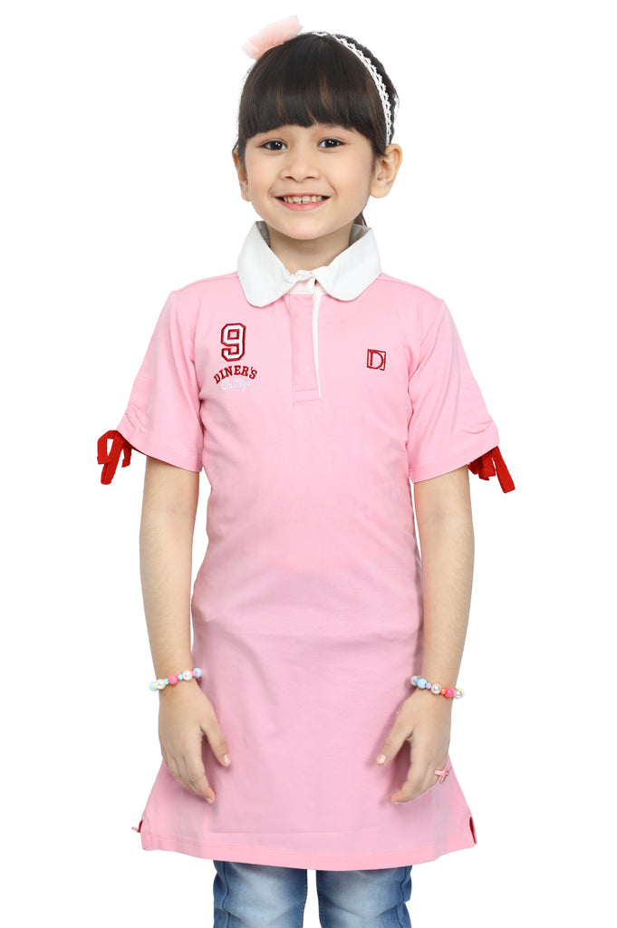 Girls T-Shirt In Pink SKU: KGA-0145-PINK - Diners