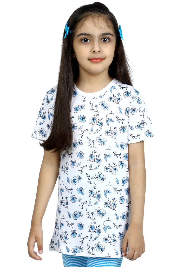 Girls T-Shirt In White SKU: KGA-0186 - Diners