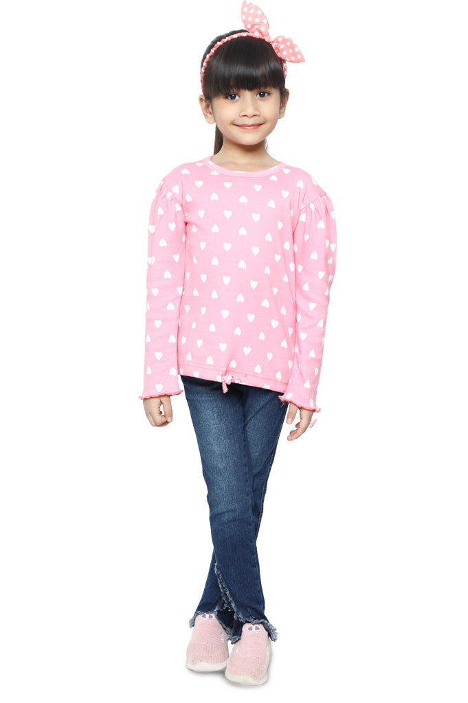 Girls T-Shirt In PINK SKU: KGA-0188-PINK - Diners