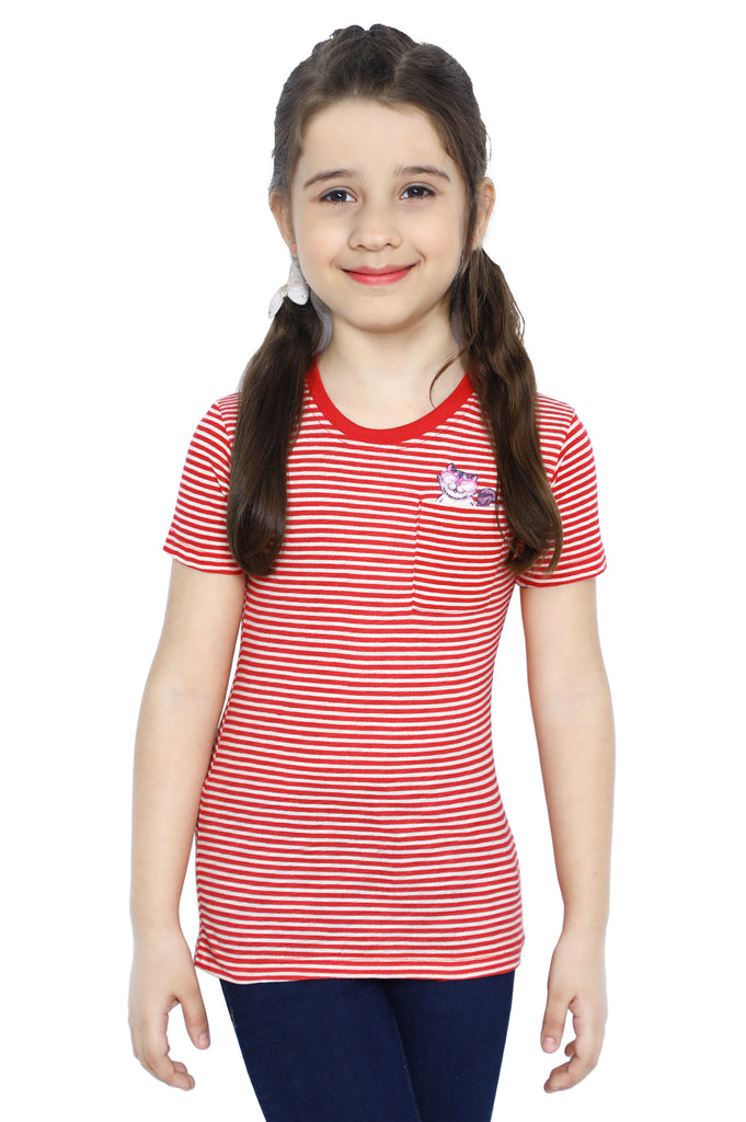 Girls T-Shirt In Red SKU: KGA-0196-RED - Diners