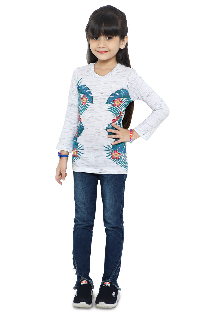 Girls T-Shirt In White SKU: KGA-0190-WHITE - Diners