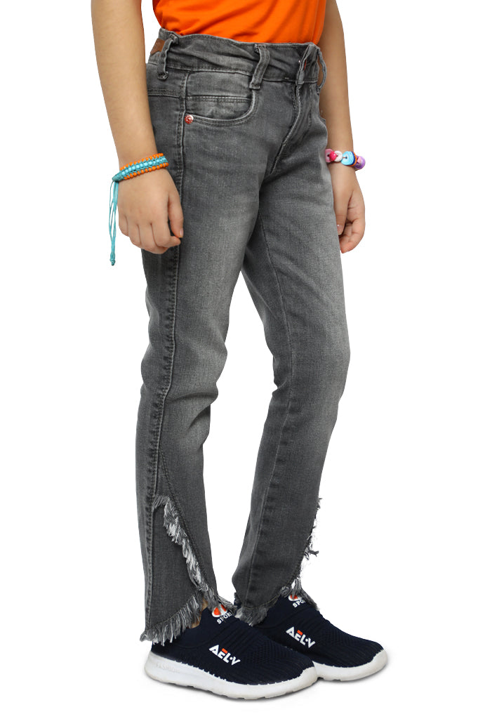 Trouser For Girls In Grey SKU: KGC-0205-GREY - Diners