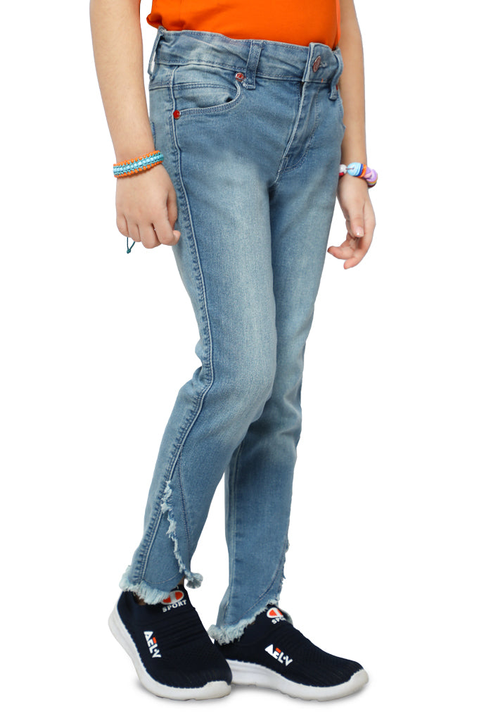 Trouser For Girls In L-Blue SKU: KGC-0206-L-BLUE