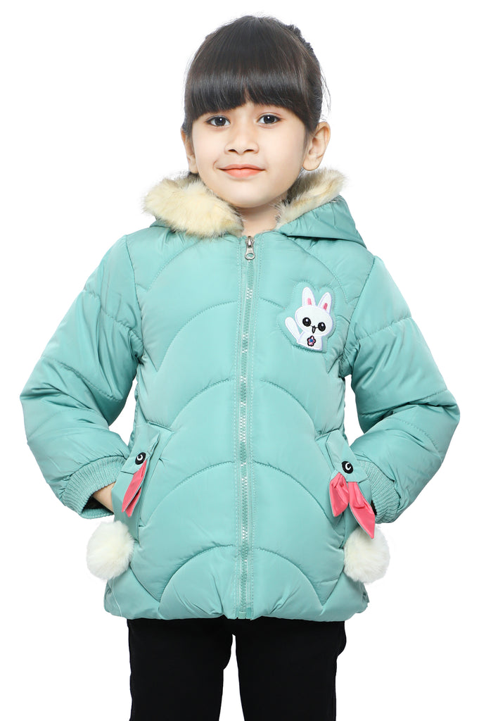 Jackets For Girls In Sea Green SKU: KGF-0101-SEA GREEN - Diners