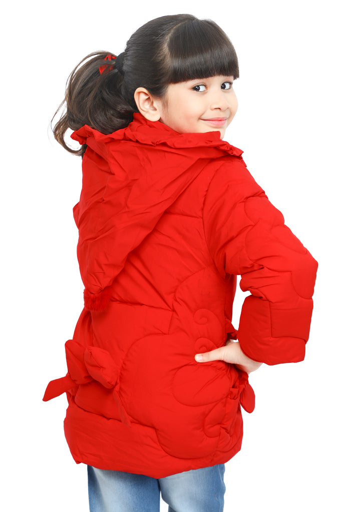 Jackets For Girls In Red SKU: KGF-0102-RED - Diners