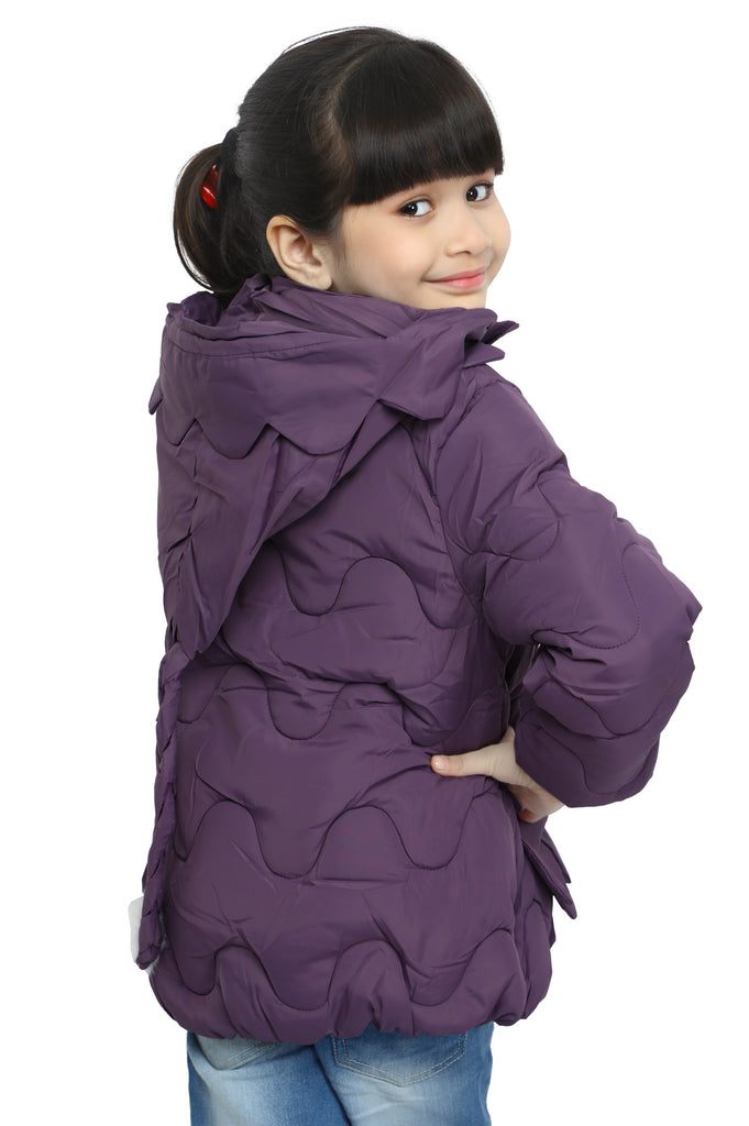 Jackets For Girls In Purple SKU: KGF-0113-PURPLE - Diners
