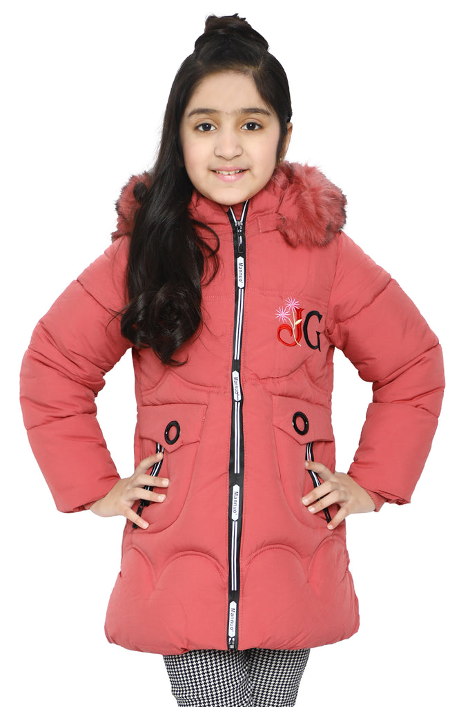 Girls Jackets In Pink SKU: KGF-0117-PINK - Diners