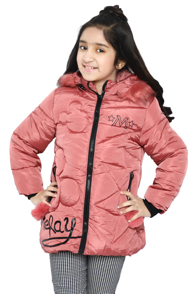 Girls Jackets In Pink SKU: KGF-0123-PINK - Diners