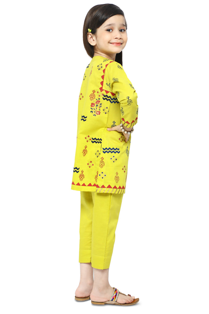 Girls Kurti in Yellow KGKK-0160-YELLOW - Diners