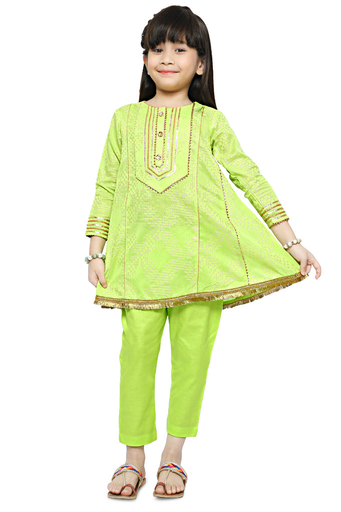 Girls Kurti in Green KGKK-0169-GREEN - Diners