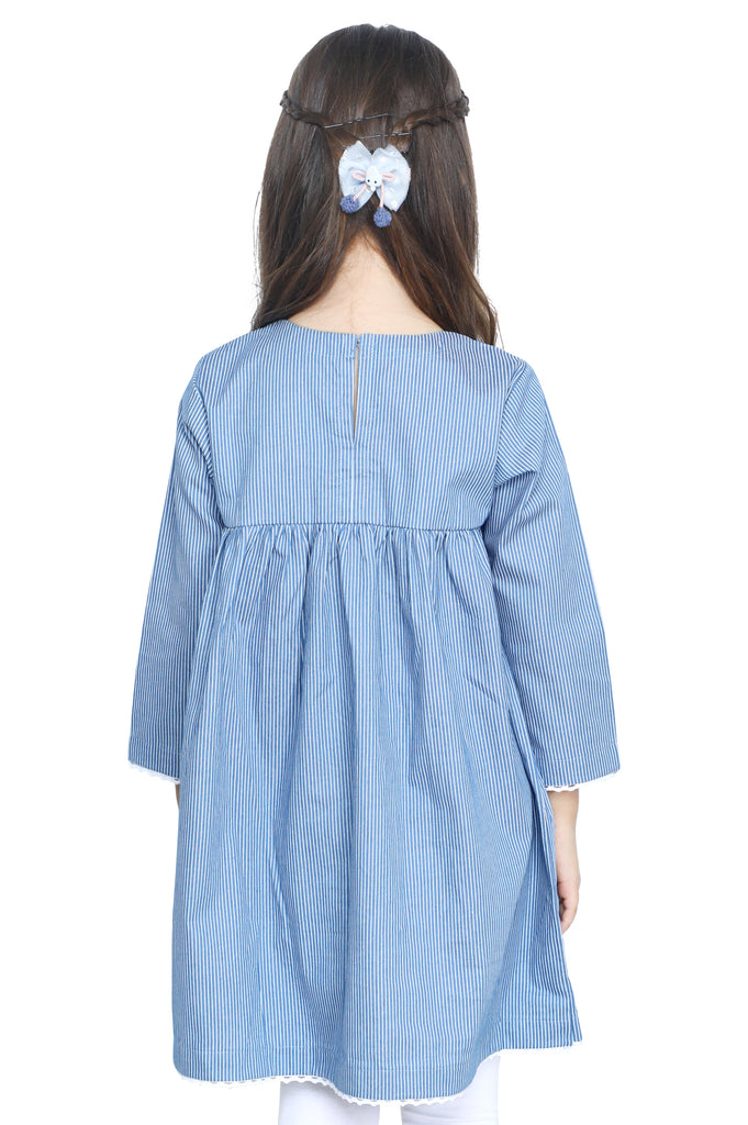 Girls Kurti in Blue SKU: KGKK-0193-BLUE - Diners