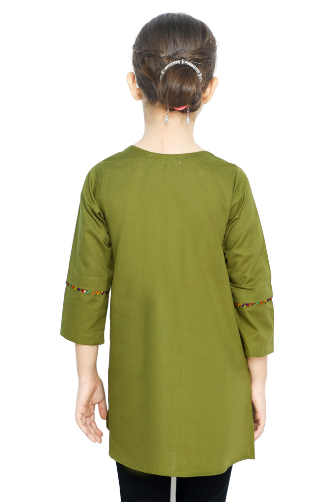 Girls Kurti in Green SKU: KGKK-0206-GREEN - Diners