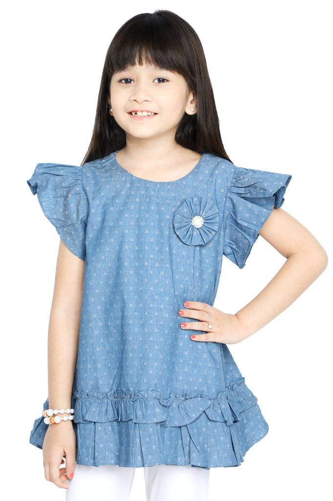 Girls Kurti in Blue SKU: KGKK-0215-BLUE - Diners