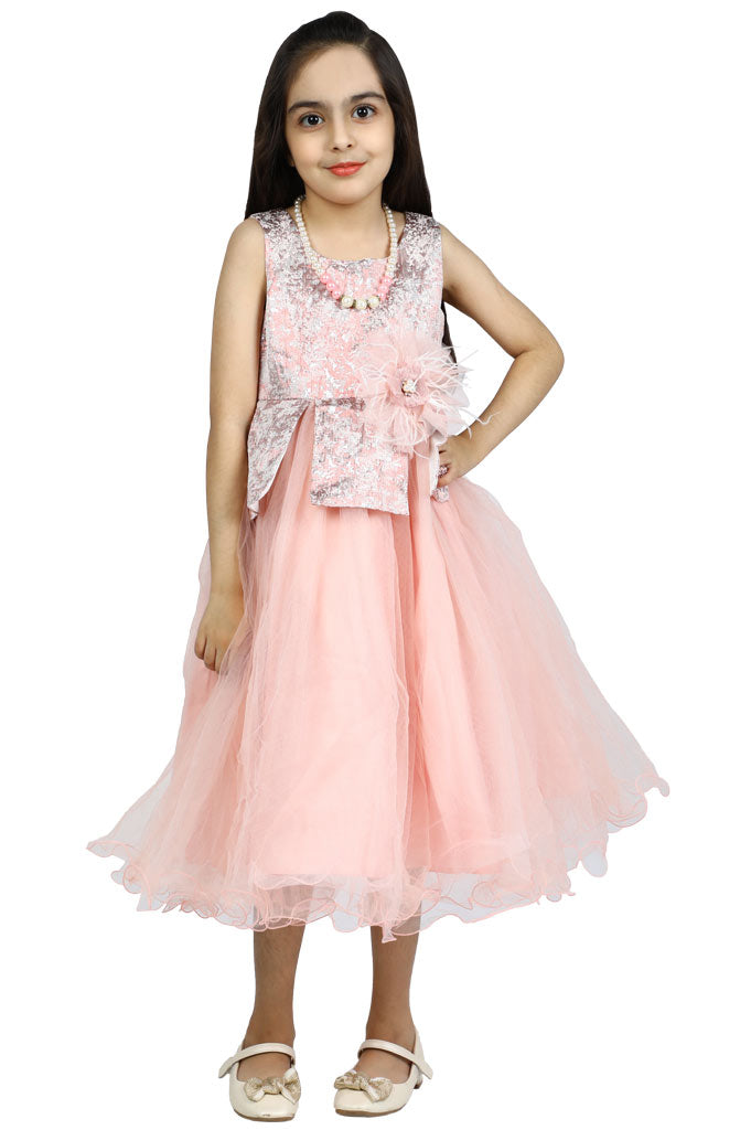 Girls Frock in Pink SKU: KGL-0296-Pink