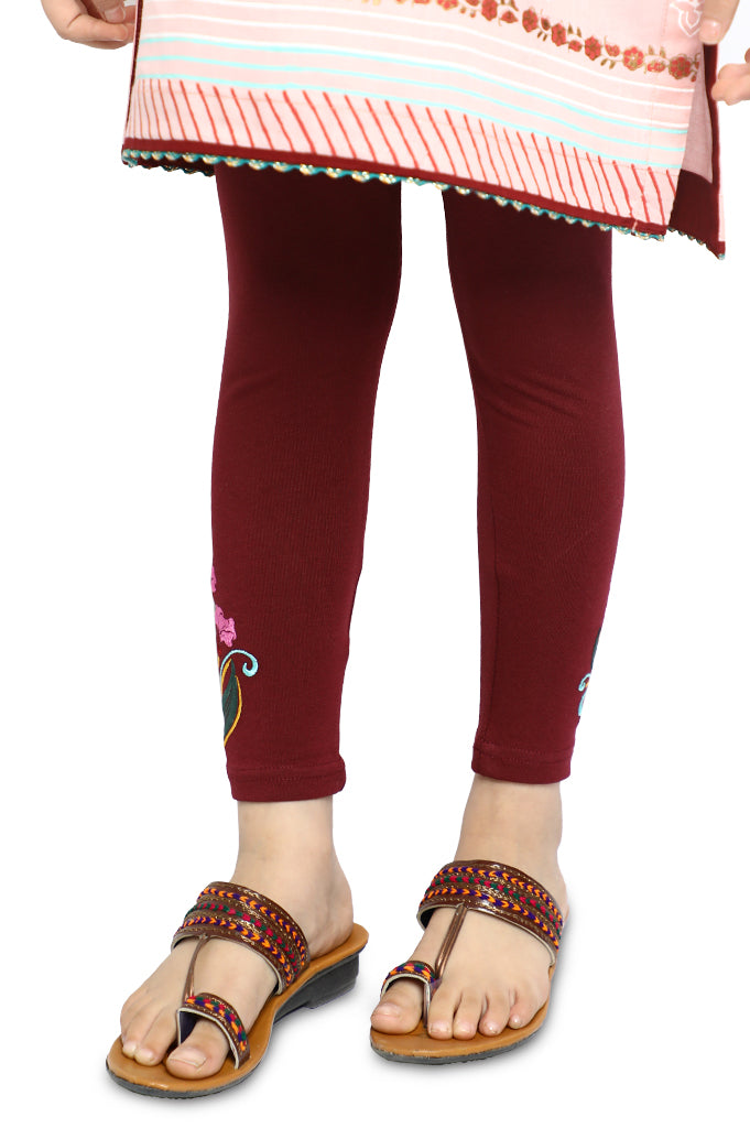 Tights For Girls In Plum SKU: KGT-0029-PLUM