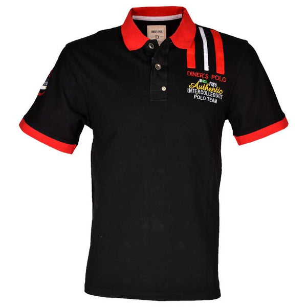 Diner's Men's Polo, T-Shirt SKU: NA489-BLACK