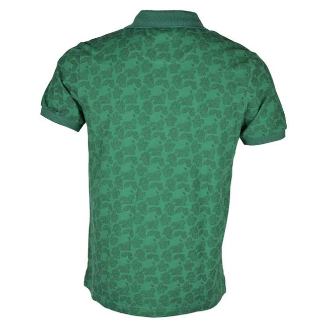 Printed Polo T-Shirt in Green SKU: NA491-Green