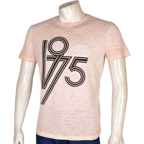 DINER`S CREW NECK T-SHIRT FOR MEN IN PINK NA510-Peach