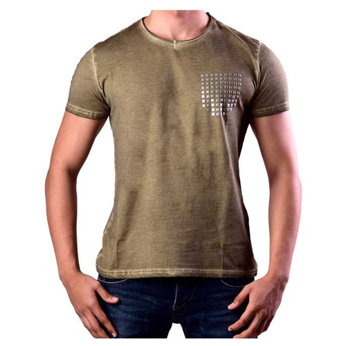 DINER`S CREW NECK T-SHIRT FOR MEN IN GREEN NA513-Green