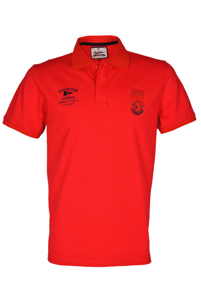 Diner's Men's Polo T-Shirt SKU: NA591-RED