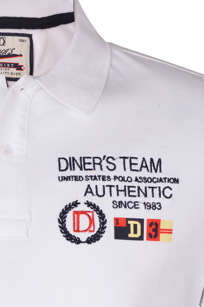 Diner's Men's Polo T-Shirt SKU: NA592-White