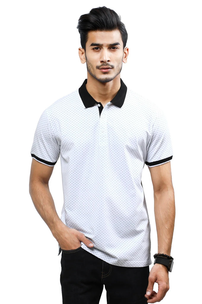 Diner's Men's Polo T-Shirt SKU: NA686-White