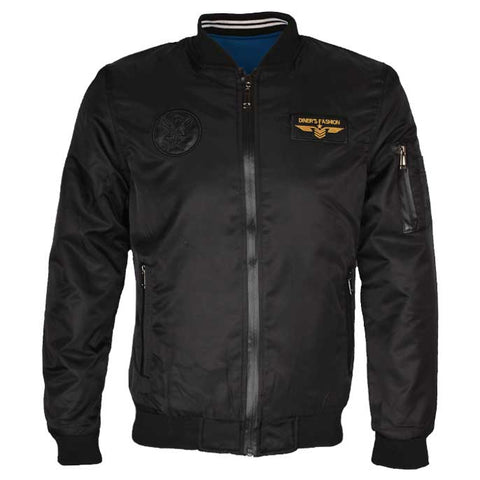 Double Sided Gents Jacket In Black SKU: OA1213-Black