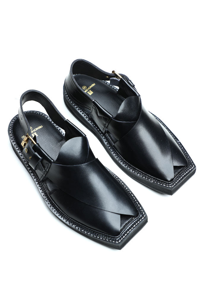 French Emporio Man Kaptaan Sandal SKU: PSLD0018-Black