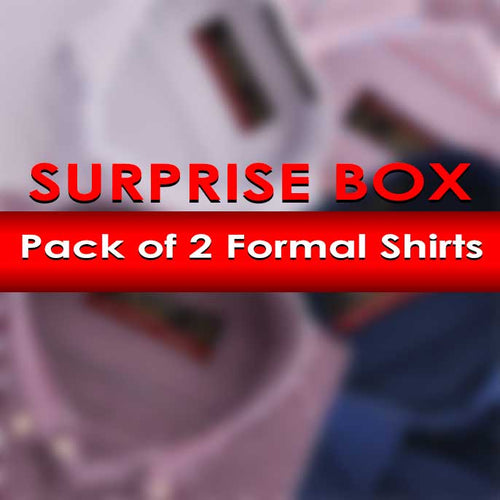 Surprise Box Pack Of 2 Formal Shirts