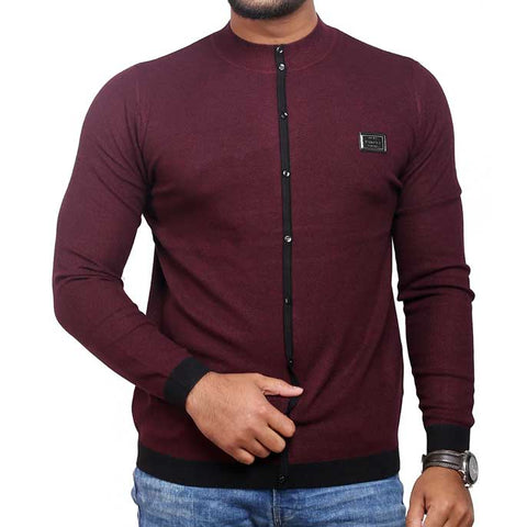 Gents Sweater In Black SKU: SA402-Mehroon