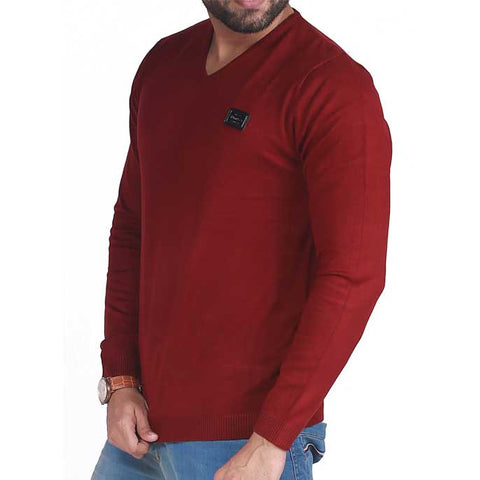 Gents Sweater In Maroon SKU: SA403-Maroon