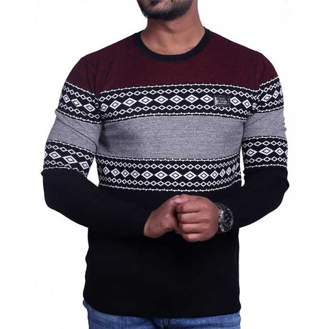 Gents Sweater SKU: SA413-Black