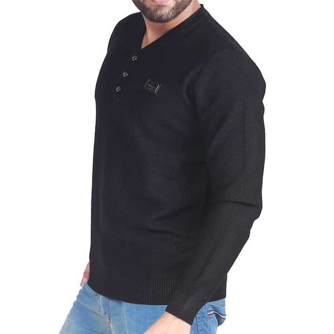 Gents Sweater In Black SKU: SA418-Black