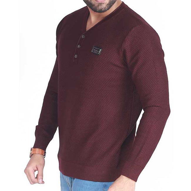 Gents Sweater In Purple SKU: SA418-Purple