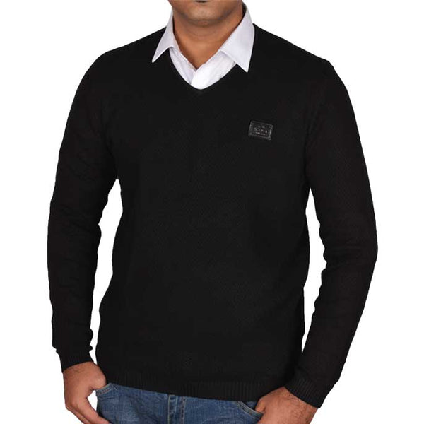 Gents Sweater In Black SKU: SA422-BLACK