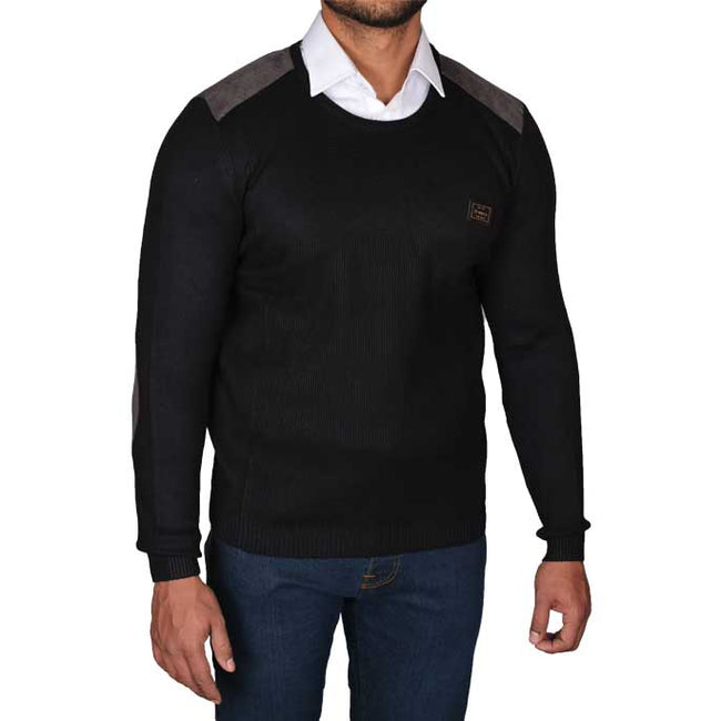 Gents Sweater In Black SKU: SA423-BLACK