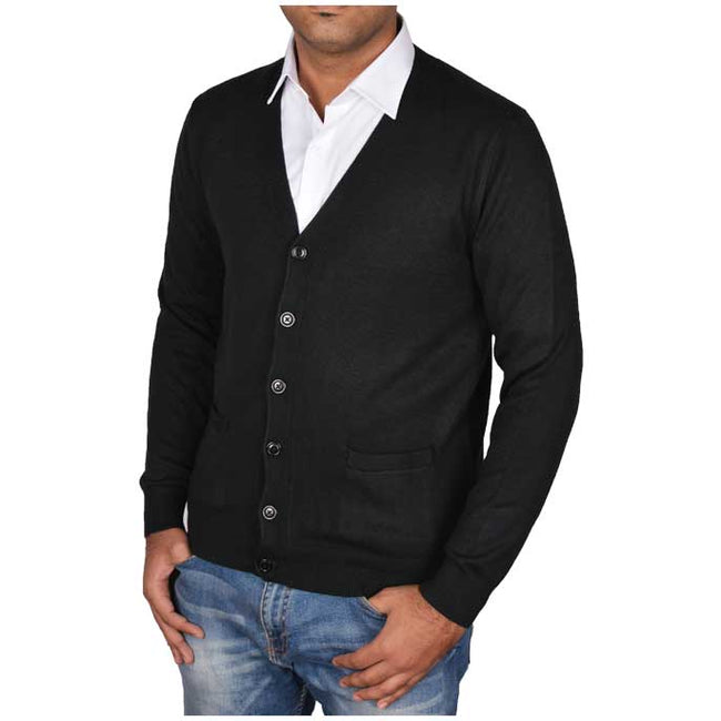 Gents Sweater In Black SKU: SA427-Black
