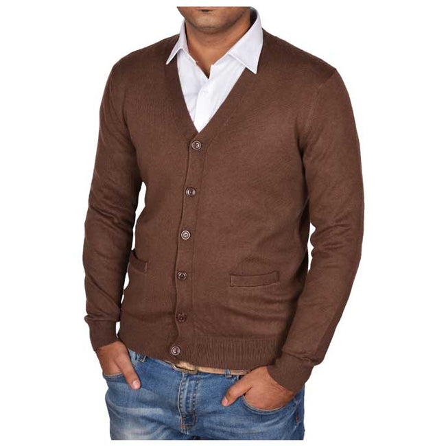 Gents Sweater In D-Brown SKU: SA427-D-Brown