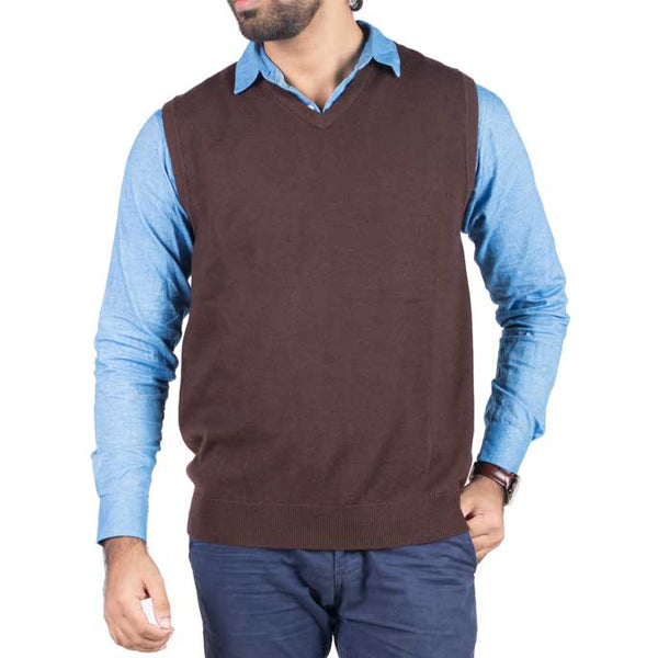 Gents Sweater In Brown SKU: SA519-BROWN